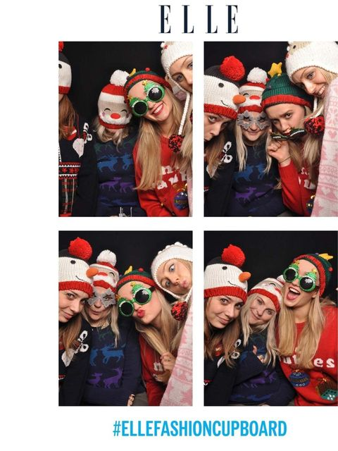 <p>ELLE's Beauty Team and the Editor in Chief's PA/Editorial Assistant Gillian Bret</p><p>Jumpers by New Look, Primark & Urban Outfitters </p><p>Accessories 'Snowman Hat' Primark & Christmas Glasses Urban Outfitters. </p>