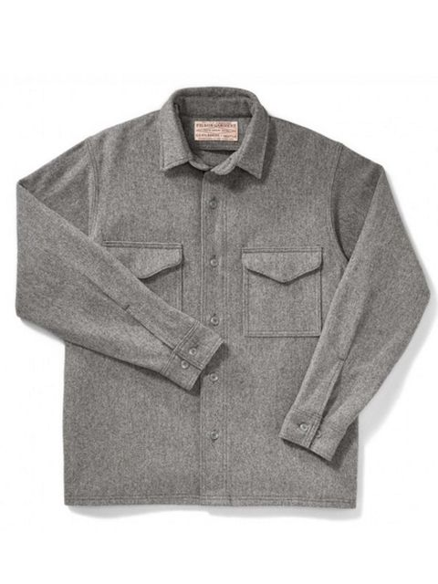 """<p>A charcoal overshirt that begs to be layered. Because overshirts are in, okay.</p>  <p><a href=""""http://www.filson.com/men/shirts/jac-shirt-alaska-fit-10047.html"""" target=""""_blank"""">Filson</a> Jac Wool Shirt, £144</p>"""