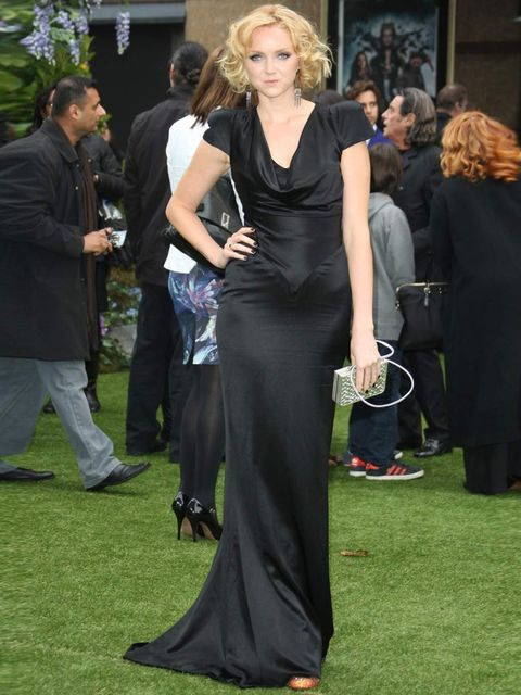 <p>Lily Cole in Alexander McQueen</p>