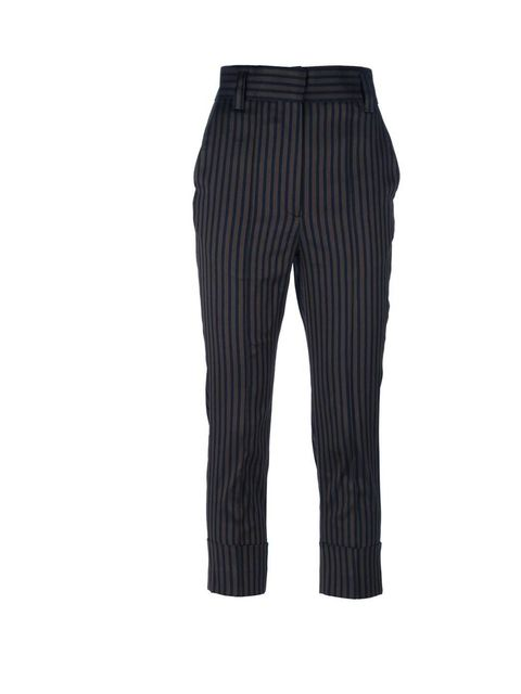 "<p>Haider Ackermann Pinstripe trousers, £438 available at <a href=""http://www.farfetch.com/shopping/women/haider-ackermann-striped-cropped-trouser-item-10378761.aspx"">Farfetch.com</a></p>"