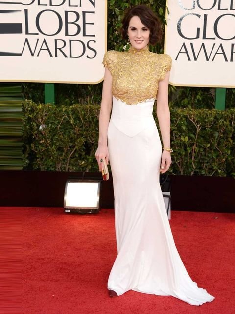 """<p><a href=""""http://www.elleuk.com/star-style/celebrity-style-files/michelle-dockery"""">Michelle Dockery</a> wows in an Alexandre Vauthier Couture gown at the Golden Globes 2013</p>"""