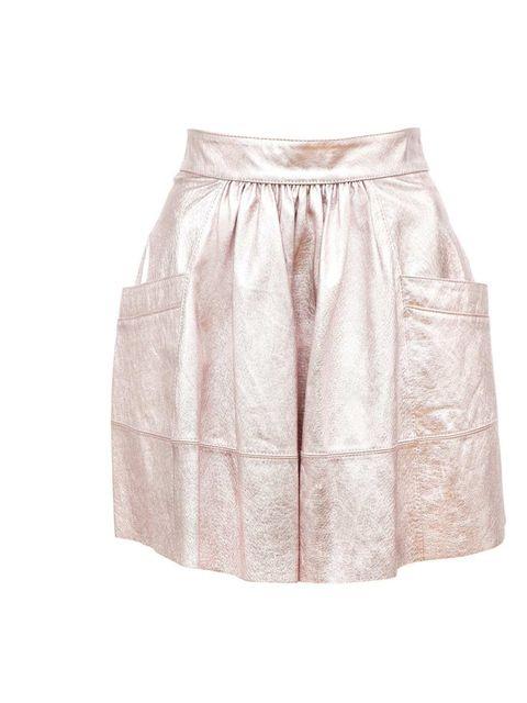 "<p>Asos Metallic Leather Skirt, £75 at <a href=""http://www.asos.com/?hrd=1"">www.asos.com</a></p>"