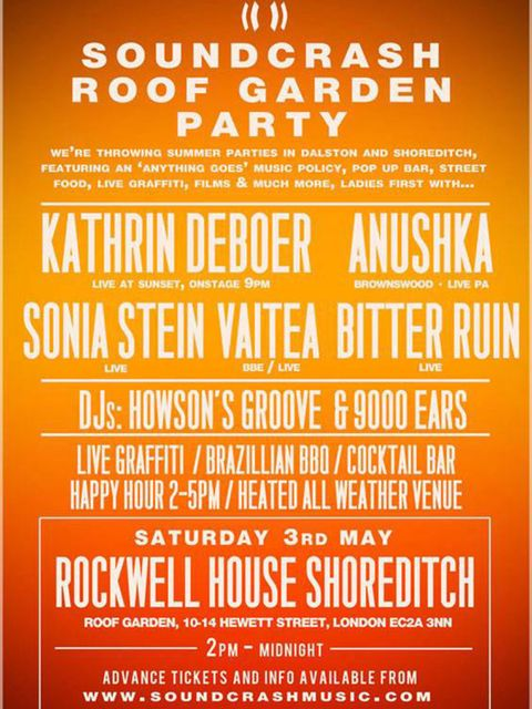 &lt&#x3B;p&gt&#x3B;&lt&#x3B;strong&gt&#x3B;NIGHTLIFE: Soundcrash Roof Garden Party Series&lt&#x3B;/strong&gt&#x3B;&lt&#x3B;/p&gt&#x3B;&lt&#x3B;p&gt&#x3B;Now that &lt&#x3B;em&gt&#x3B;everyone&lt&#x3B;/em&gt&#x3B;&rsquo&#x3B;s gone underground, the coolest kids on the London club scene are partying from the rooftops.&lt&#x3B;/p&gt&#x3B;&lt&#x3B;