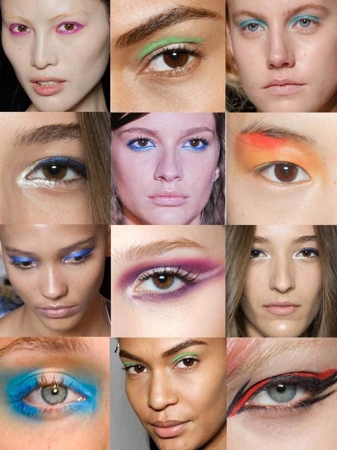 <p>This season the manifesto for eyes is smoky if you're embracing the Romantic Goth trend, or bold sunset hues if you're feeling brave. Come next spring however the trend will be to embrace every colour of the rainbow from red right through to blue, thos