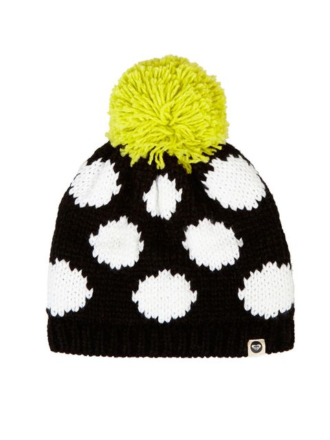 "<p>House of Holland for Roxy knitted hat, £60 at <a href=""http://www.net-a-porter.com/product/503867/House_of_Holland/-roxy-polka-dot-knitted-hat"" target=""_blank"">net-a-porter.com</a></p>"