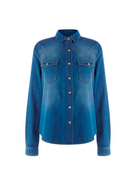 "<p>ALEXA'S TIP: Go denim crazy</p>  <p><a href=""http://www.warehouse.co.uk///warehouse/fcp-product/02293868"" target=""_blank"">Warehouse</a> shirt, £36</p>"
