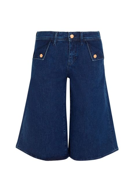 "<p>ALEXA'S TIP: Go denim crazy</p>  <p><a href=""http://www.net-a-porter.com/product/493227/MiH_Jeans/the-kin-stretch-denim-culottes"" target=""_blank"">MiH</a> culotts, £165</p>"