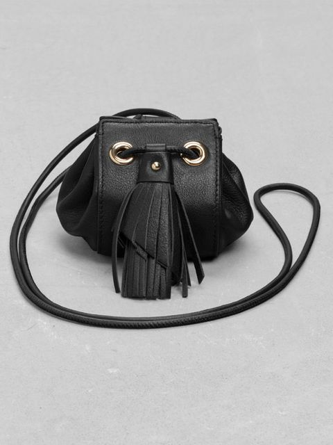 """<p>Fashion Assistant Charlie Gowans-Eglinton couldn't resist a classic bag with a twist.</p><p><a href=""""http://www.stories.com/gb/Bags/Shoulder_bags/Small_Leather_Drawstring_Pouch/582764-7978970.1"""" target=""""_blank"""">&Other Stories</a> bucket bag, £45</p>"""
