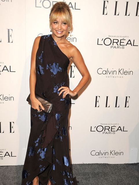 "<p>Nicole Richie wears a Douglas Hannat dress with <a href=""http://www.elleuk.com/content/search?SearchText=christian+louboutin&SearchButton=Search"">Christian Louboutin</a> heels for the ELLE annual women in Hollywood tribute gala in Los Angeles, Octo"