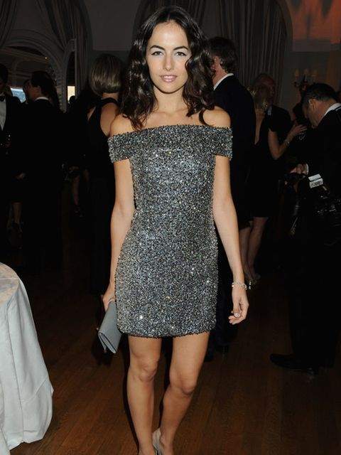 <p>Camilla wowing in a dress from Alexander McQueen's Spring Summer 2010 collection</p>
