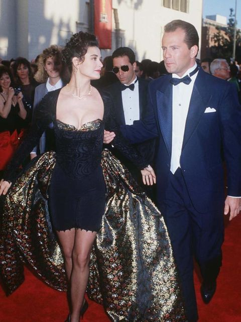 <p>Demi Moore and Bruce Willis at the Hurlyburly Premiere, 1988.</p>