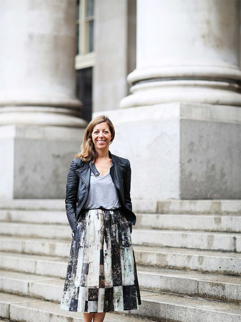 <p>Kirsty Dale – Executive Fashion and Beauty Director</p>  <p>Zara jacket, & Other Stories top, Whistles skirt, Nike trainers.</p>