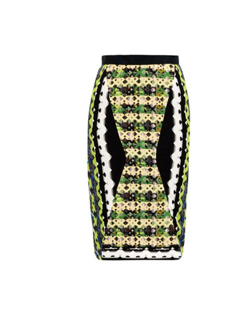 """<p>Peter Pilotto geometric print skirt, £580, at Matches</p><p><a href=""""http://shopping.elleuk.com/browse?fts=peter+pilotto+geometric+print+skirt"""">BUY NOW</a></p>"""