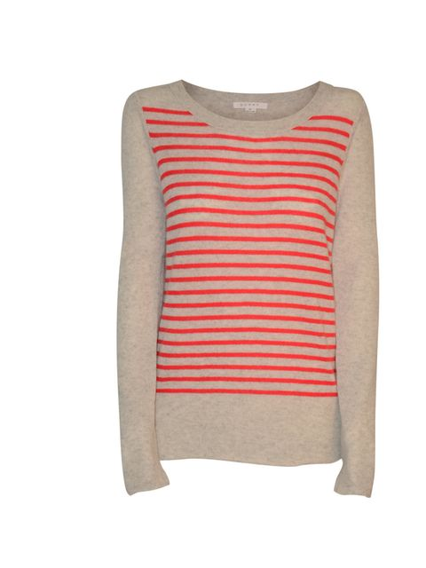 """<p>Duffy Cashmere sweater, £170 at Csee Boutique</p><p><a href=""""http://cseeboutique.com/knitwear/duffy-light-mist-cashmere-sweater-with-red-stripes.html"""">BUY NOW </a></p>"""