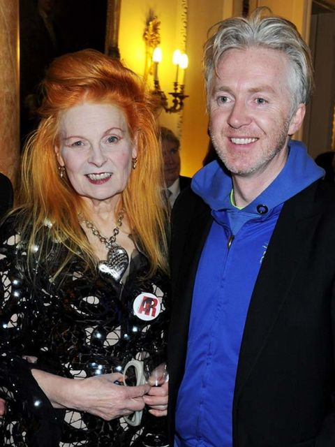 <p>Vivienne Westwood and Philip Treacy</p>