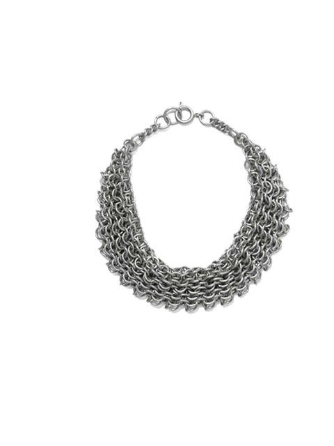 "<p><a href=""http://www.cosstores.com/Store/Women/New/Chainmail_bracelet/365246-4372758.1"">COS</a> bracelet, £15 </p>"
