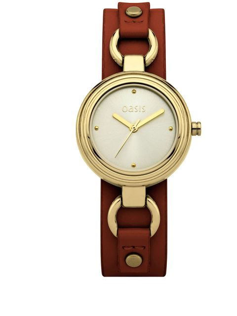 """<p><a href=""""http://www.oasis-stores.com/?lng=en&ctry=GB&"""">Oasis</a> watch, £40</p>"""