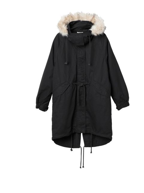 "<p>Monki Black Parka  £70. Available at <a href=""http://www.monki.com/Shop/Outerwear/Carlotta_jacket/65005-2098054.1"">Monki.com</a></p>"