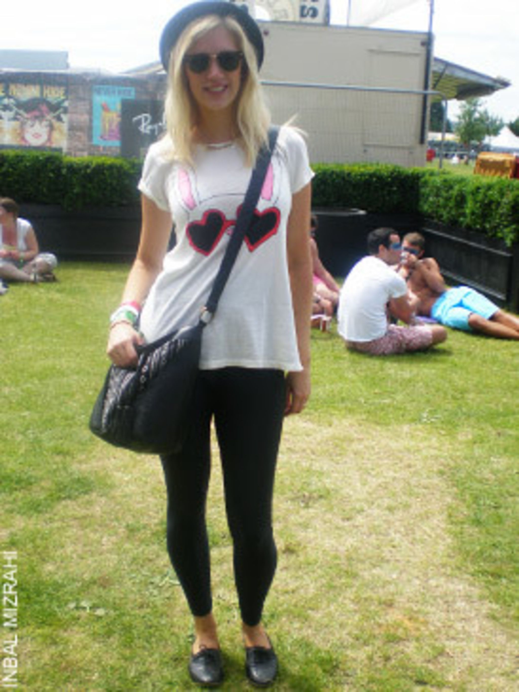<p>Amy Rycroft, 27, Buyer for ASOS in leggings by American Apparel and t-shirt, bag and hat by ASOS.</p>