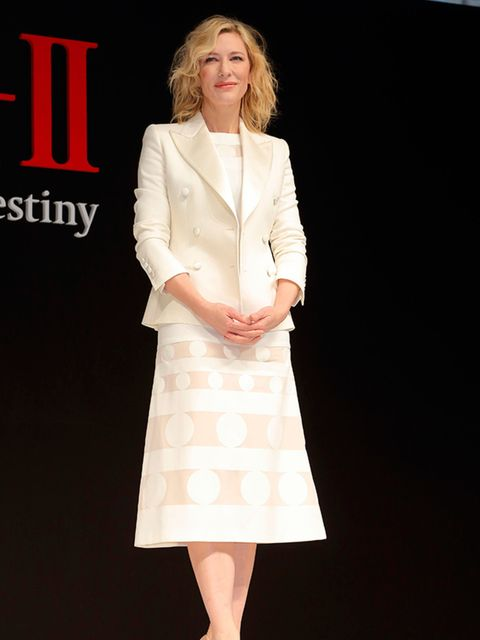Cate Blanchett attends the SK-II Change Destiny campaign launch in Tokyo, January 2016.