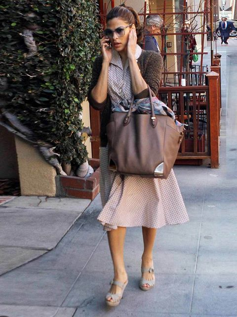 """<p>Eva Mendes is spotted with an <a href=""""http://www.elleuk.com/catwalk/designer-a-z/alexander-wang/spring-summer-2012"""">Alexander Wang</a> tote around Beverly Hills, January 2012.</p>"""
