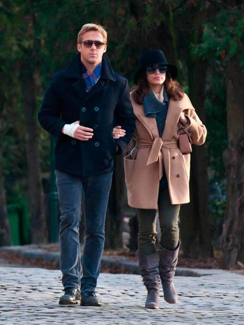 <p>Eva Mendes and Ryan Gosling are seen together in Paris, November 2011.</p>