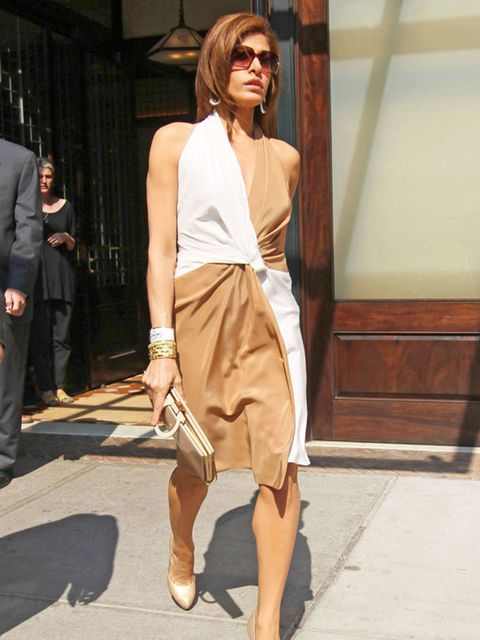 "<p>Eva Mendes is out and about in LA wearing <a href=""http://www.elleuk.com/catwalk/collections/salvatore-ferragamo/spring-summer-2011"">Salvatore Ferragamo</a> casual wraparound, June 2011.</p>"