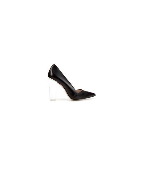 "<p><a href=""http://www.zara.com/webapp/wcs/stores/servlet/product/uk/en/zara-W2011-r/163405/677521/COURT%2BSHOE%2BWITH%2BMETHACRYLATE%2BHEEL"">Zara</a> court shoe with methacrylate heel, £79.99</p>"