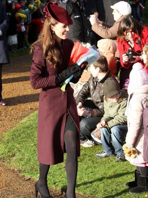 <p>Kate Middleton at Sandringham this Christmas </p>