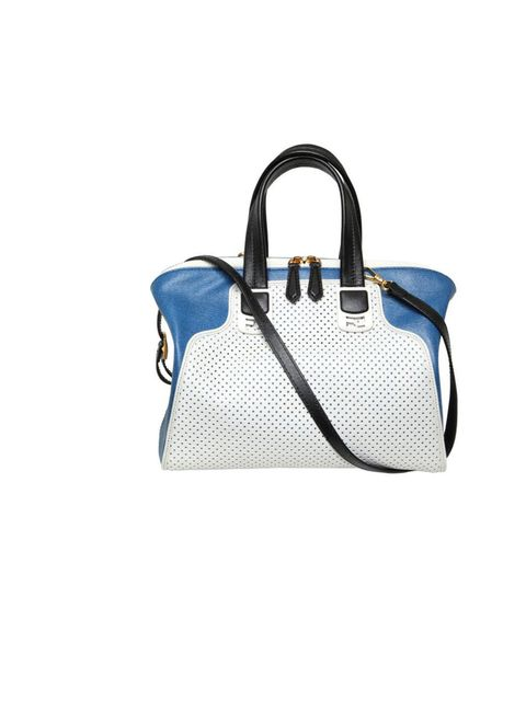 "<p>Fendi perforated leather tote bag, £1,079.99, at <a href=""http://www.luisaviaroma.com/index.aspx?"">luisaviaroma.com</a></p>"