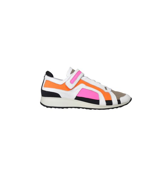"""<p>Pierre Hardy two-tone leather and neon sneakers, £295, at Net-a-Porter</p><p><a href=""""http://shopping.elleuk.com/browse?fts=pierre+hardy"""">BUY NOW</a></p>"""