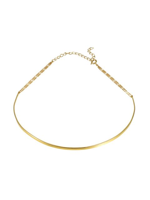 "<p>Choker, £125, <a href=""http://www.tadaandtoy.com/product/basic-choker-gold/"" target=""_blank"">Tada & Toy</a></p>"