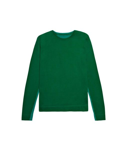 <p>Cos two-tone lycra sweater, £45, for stockists call 0207 478 0400</p>