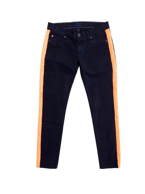 <p>Move over the Houlihan, it's time to usher in the Lou Lou. With neon strips inspired by YSL's tuxedos, there's no way you'll be able to resist… Hudson Lou Lou jeans, £250, at Selfridges for stockists call 0800 123 400</p>