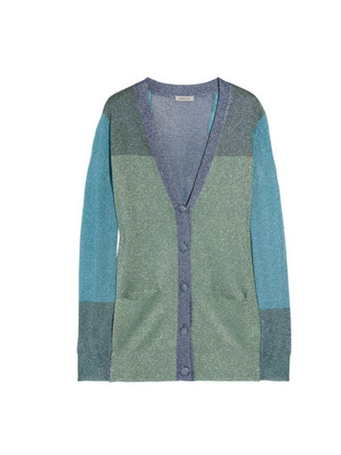"<p>As Jonathan Saunders demonstrated back in September, fine knits just like this colour block cardigan are the ideal companion for statement skirts…Emma Cook metallic cardigan, £200, at Net-a-Porter</p><p><a href=""http://shopping.elleuk.com/browse?fts=em"