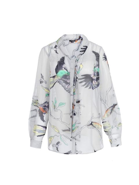 "<p>Prints rule once again this spring and the classic blouse is the most versatile piece to own… <a href=""http://www.fullcircleuk.com/"">Full Circle</a> bird print blouse, £65</p>"
