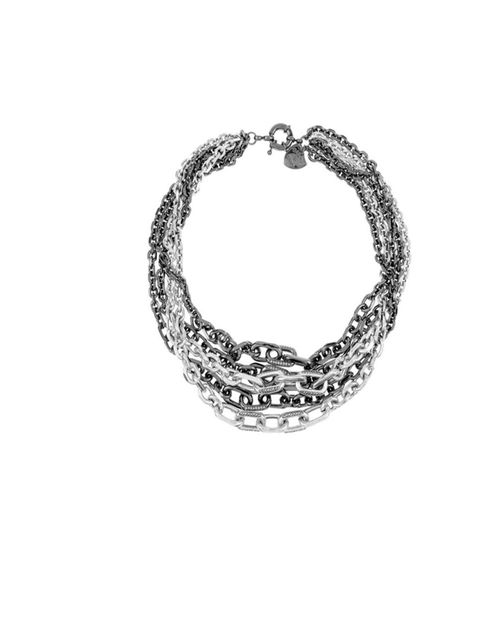"""<p>Giles &amp&#x3B; Brother silver &amp&#x3B; hematite multi-chain necklace, £185, at Net-a-Porter</p><p><a href=""""http://shopping.elleuk.com/browse/necklaces?fts=giles+and+brother"""">BUY NOW</a></p>"""