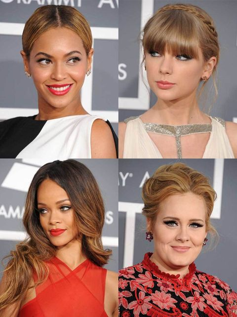 "<p>We know its all about the music, but us being us, we're equally enamoured with the red carpet grooming. The <a href=""http://www.elleuk.com/fashion/news/grammys-2013-winners-highlights"">2013 Grammys</a> didn't disappoint with a strong leaning towards bl"