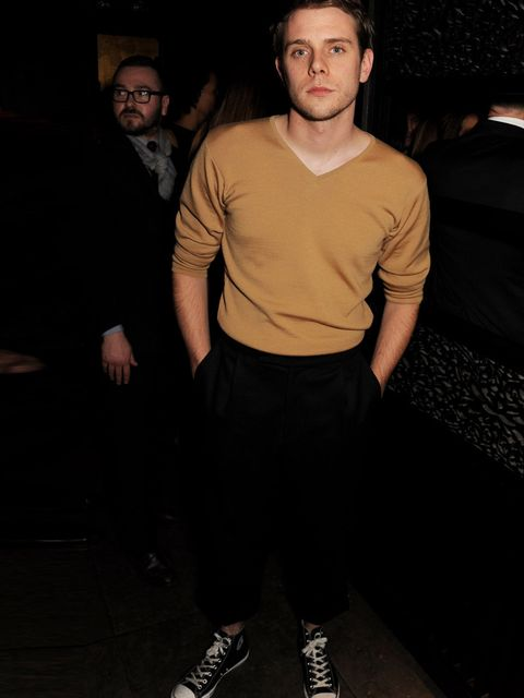 <p>J.W.Anderson attended the men's closing dinner at the Hakkasan Hanway Place during London Collections: Men a/w 2014, London.</p>