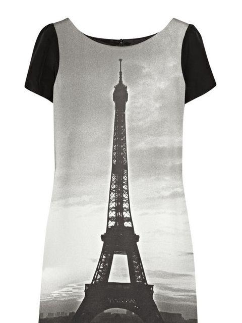 "<p>Moschino Cheap &amp&#x3B; Chic printed mini dress, £465, at <a href=""http://www.net-a-porter.com/product/163568"">Net-a-Porter</a></p>"