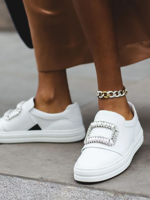 <p>All those cropped trousers have left our ankles bare. So let's refocus, and repurpose our bracelets as anklets. At Chloé the vibe was easy breezy, while the perfectly clunking ankle chains worn at  Calvin Klein were a trainer gir