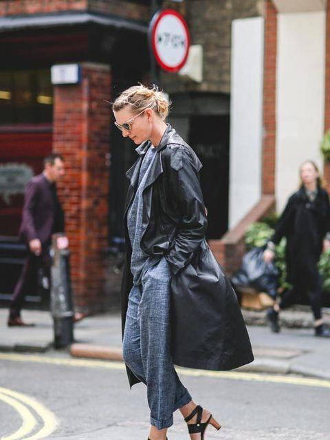 <p>Rebecca Lowthorpe, Assistant Editor / Editor ELLE Collections</p>  <p>Vintage Louis Vuitton mac, 1205 suit, Céline shoes, Louis Vuitton bag, Bulgari sunglasses.</p>