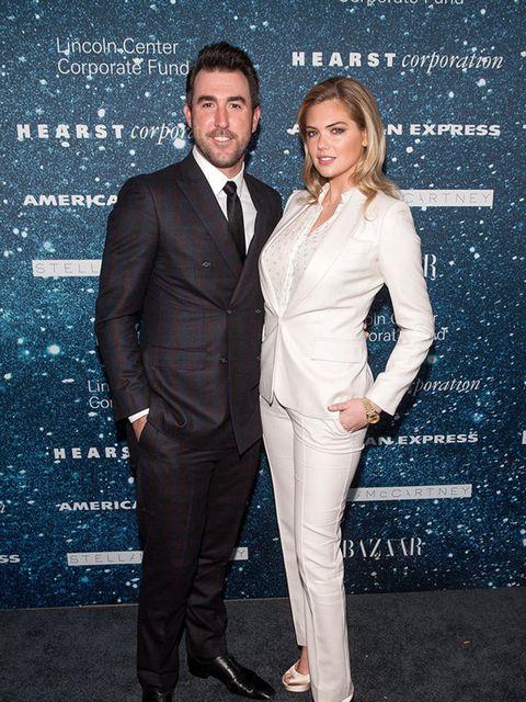 <p>Kate Upton and Justin Verlander attend the Women's Leadership Award Honouring Stella McCartney in New York, November 2014.</p>