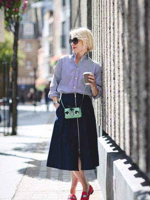 <p>Lorraine Candy, Editor-in-Chief</p>  <p>Joseph shirt, Whistles skirt, Fendi bag, Jimmy Choo shoes, Tom Ford sunglasses</p>