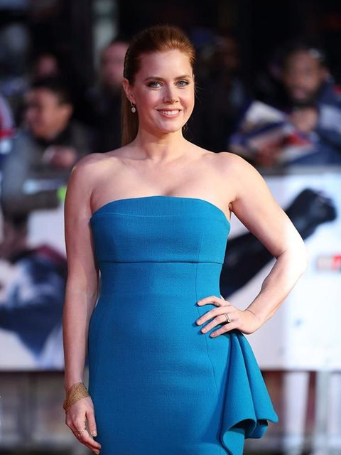 Amy Adams attends the Batman V Superman Dawn of Justice premiere in London, March 2016.