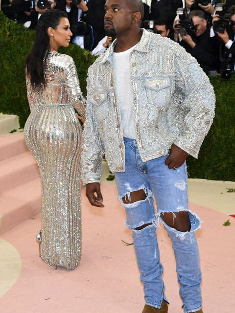 Kim Kardashian and Kanye West at the Met Gala in New York, May 2016.