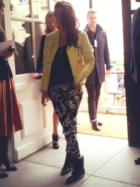 <p>Kristen Stewart arriving at Balenciaga Spring Summer 2013</p>