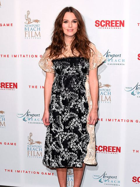 Keira Knightley wears MICHAEL VAN DER HAM to The Imitation Game film private reception in London, February 2015.