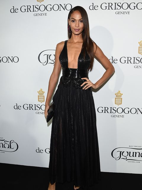 Joan Smalls attends the De Grisogono party during the Cannes Film Festival, May 2015.