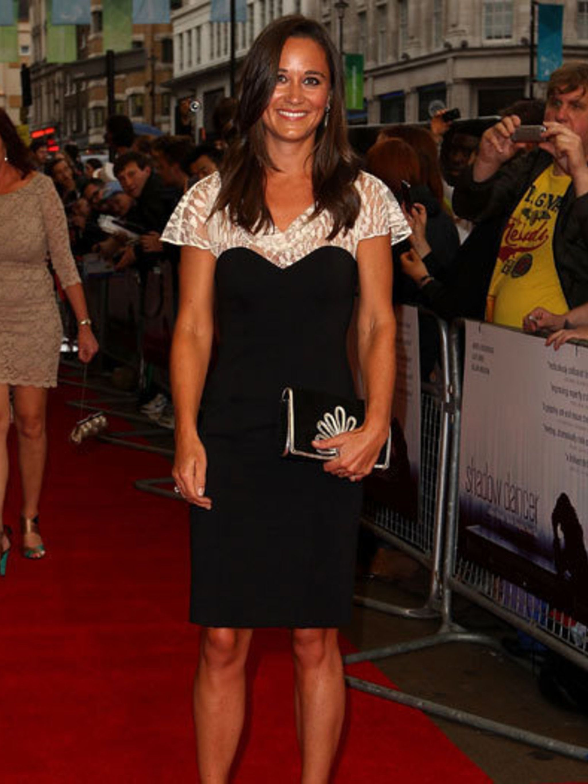 <p>Pippa Middleton at the UK premiere of Shadow Dancer wearing Alice Temperley.</p>
